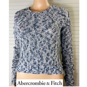 NWT Abercrombie & Fitch Womens Marled Crop Sweater